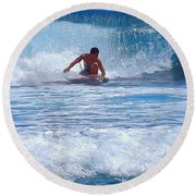 All The Way To Shore Round Beach Towel