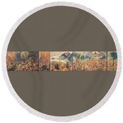All Things Die  But All Will Be Resurrected Through God's Love Round Beach Towel