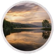 Allegany Sunset Round Beach Towel