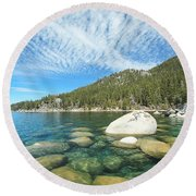 Allegiance To Nature Round Beach Towel
