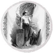 Allegory: Columbia, C1870 Round Beach Towel