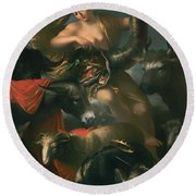 Allegory Of Fortune Round Beach Towel