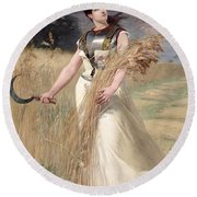 Allegory Of France Round Beach Towel