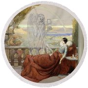 Allegory Of Tuberculosis, 1912 Round Beach Towel