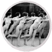 Allen Chorus Line, 1920 - To License For Professional Use Visit Granger.com Round Beach Towel