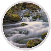 Alley Spring Rapids Fall Mo Dsc09212 Round Beach Towel