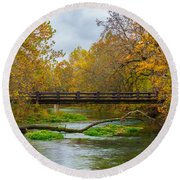 Alley Spring River Round Beach Towel