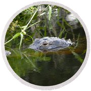 Alligator Hunting Round Beach Towel