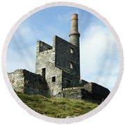 Allihies Copper Mine West Cork Round Beach Towel