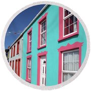 Allihies Streetscape West Cork Round Beach Towel