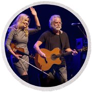 Allison Krauss And Bob Wier Round Beach Towel