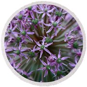 Allium Macro Round Beach Towel