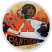 Alma High School Athletics Round Beach Towel