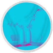 Almond And Cherry Blossoms 1 Round Beach Towel