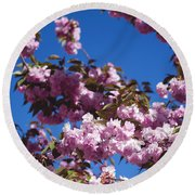 Almond Flowers Round Beach Towel