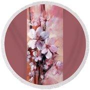 Almonds Blossom  12 Round Beach Towel