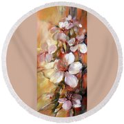 Almonds Blossom  9 Round Beach Towel