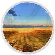 Almost Round Beach Towel