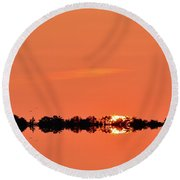 Almost Below The Horizon Two  Round Beach Towel