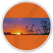 Almost Gone Round Beach Towel