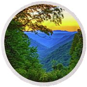 Almost Heaven - West Virginia 3 - Paint Round Beach Towel