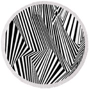 Almost Like Believing Round Beach Towel