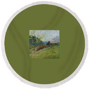 Almost Spring Round Beach Towel