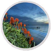 Aloe Vera Bloom Round Beach Towel