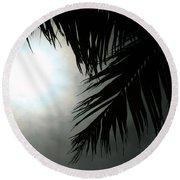Aloha From The Garden Of Heaven  Round Beach Towel