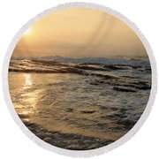 Aloha Oe Sunset Hookipa Beach Maui North Shore Hawaii Round Beach Towel