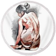 Alone Too Round Beach Towel