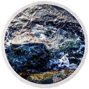 Alone With Sea Round Beach Towel