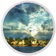 Along The North Shore - Ma Round Beach Towel