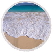 Along Shoreline Round Beach Towel