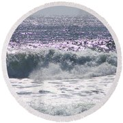 Along The Costal Highway Round Beach Towel