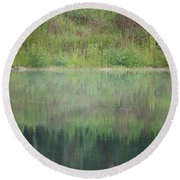 Along The Edge Of The Pond Round Beach Towel