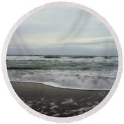 Along The Great Highway Round Beach Towel