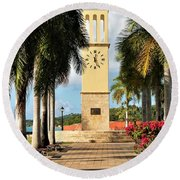 Along The Hands Of Time Round Beach Towel