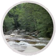 Along The Hiking Trail Round Beach Towel