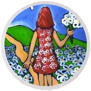 Along The New Path Round Beach Towel