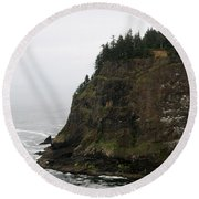 Along The Oregon Coast - 6 Round Beach Towel