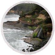 Along The Oregon Coast - 7 Round Beach Towel