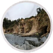 Along The Oregon Coast  Round Beach Towel
