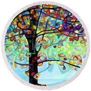 Along The River Round Beach Towel