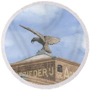Along The River Zaan Zeepziederij De Adelaar Round Beach Towel