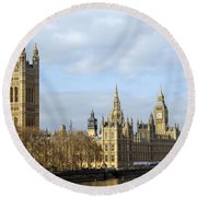 Along The Thames Round Beach Towel