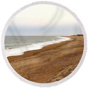 Along The Tide Line Round Beach Towel