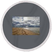 Along The Way Round Beach Towel