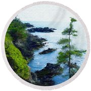 Along The West Coast 1 Round Beach Towel