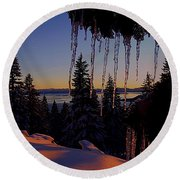 Alpenglow Claws Round Beach Towel